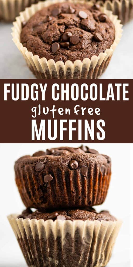 "image with text ""fudgy chocolate gluten free muffins"""