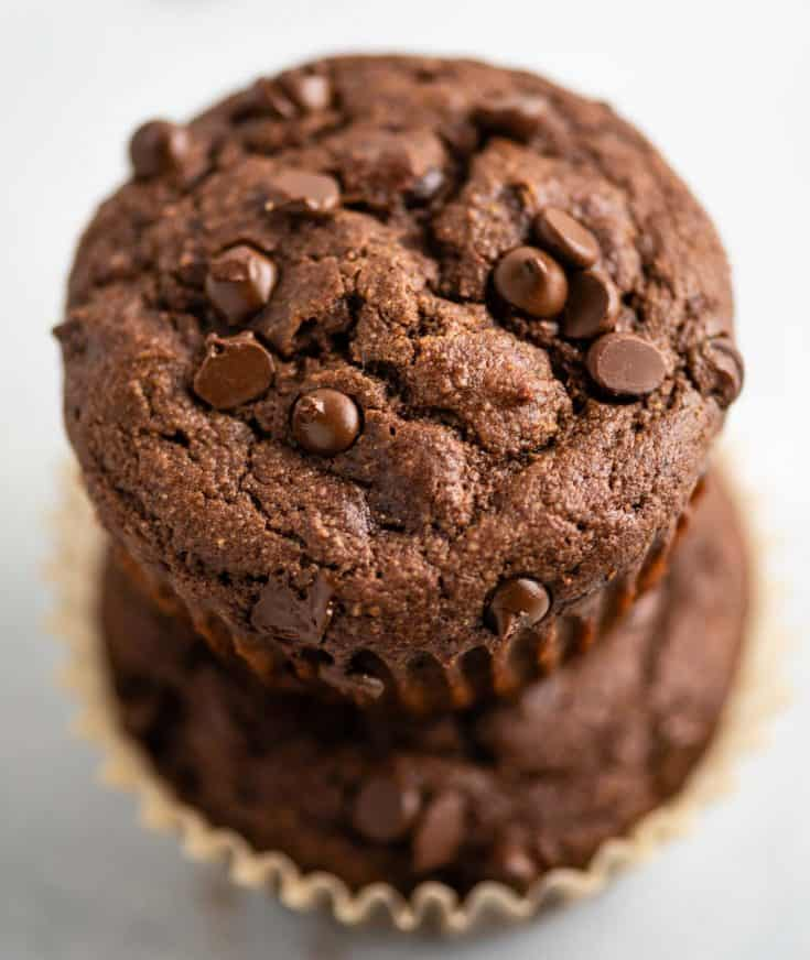 The BEST gluten free chocolate muffins - perfectly soft, light, not dense, not dry, and not too sweet. They are literally the perfect chocolate muffin!