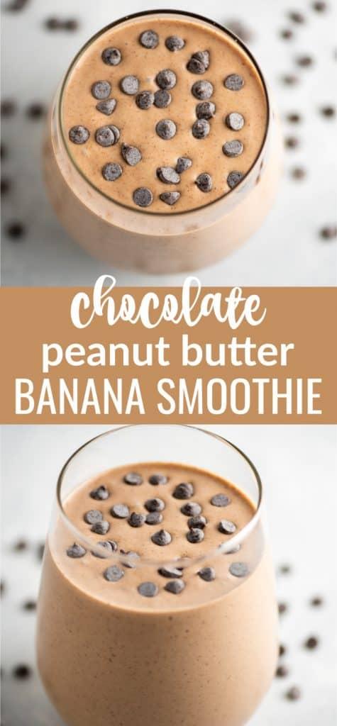 chocolate pb banana smoothie