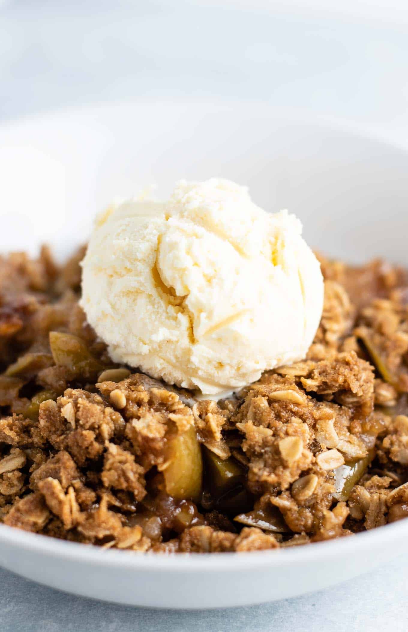 gluten free apple crisp with oats