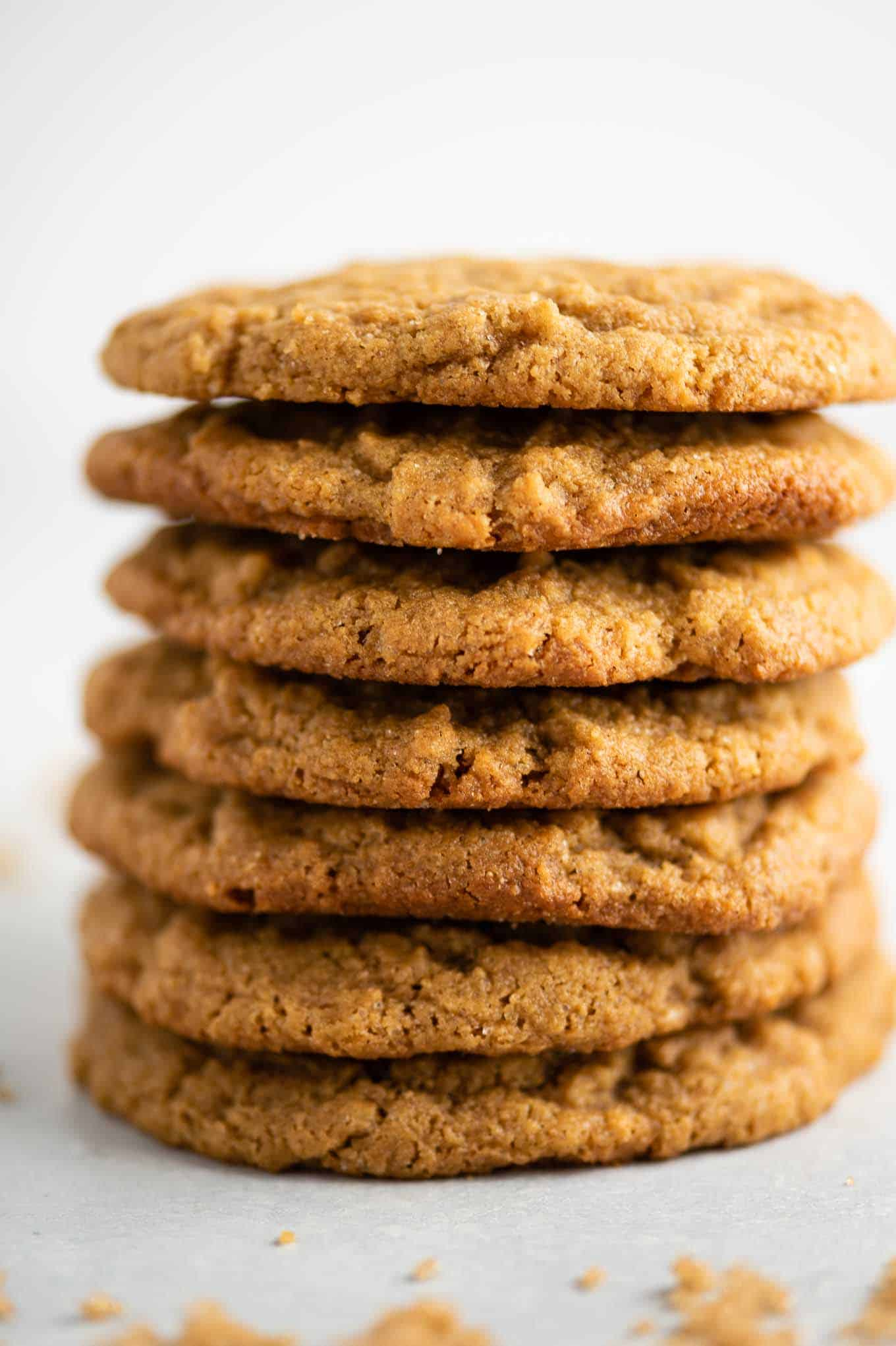 stacked gluten free peanut butter cookies