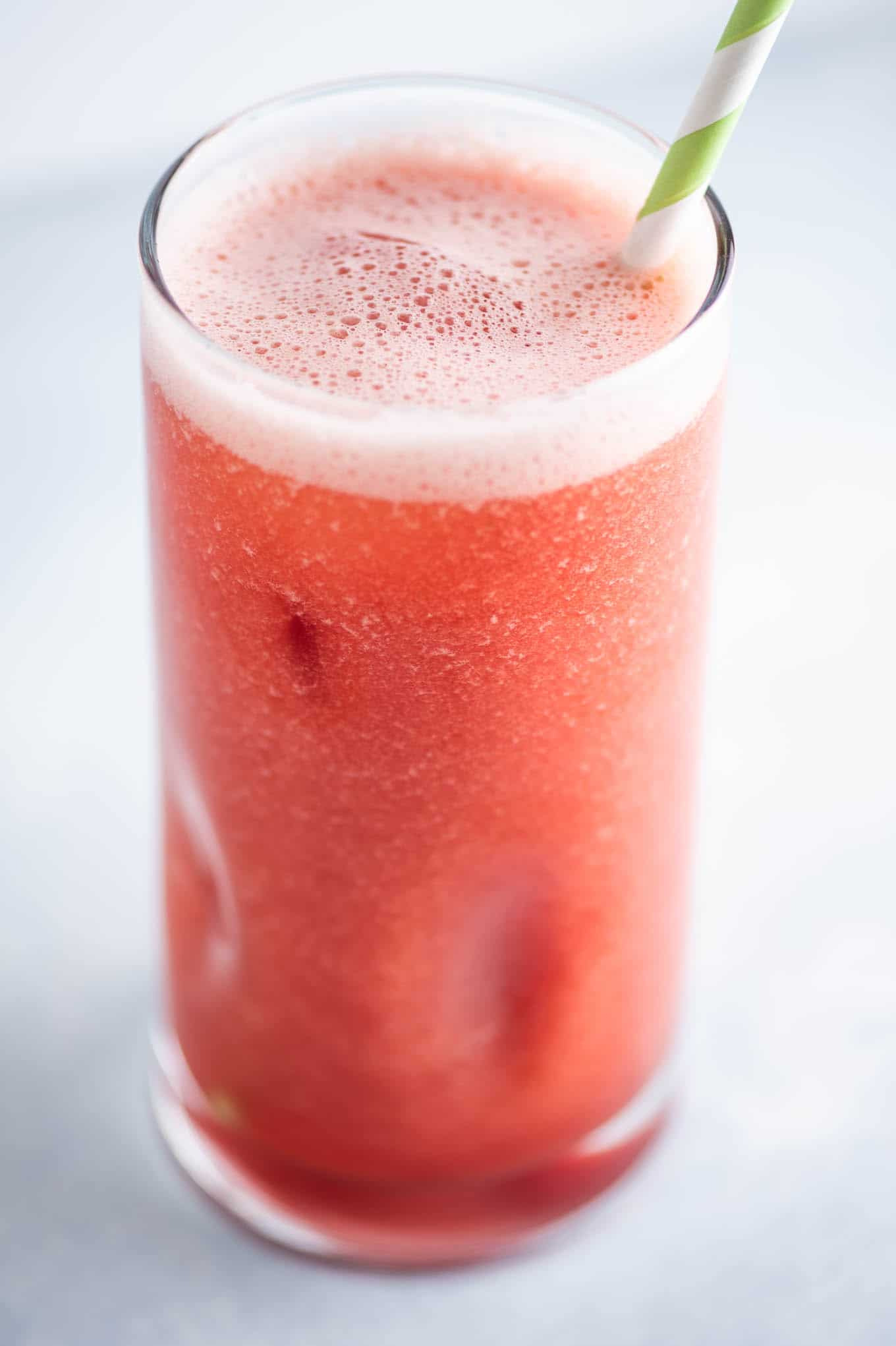 homemade watermelon juice in a glass