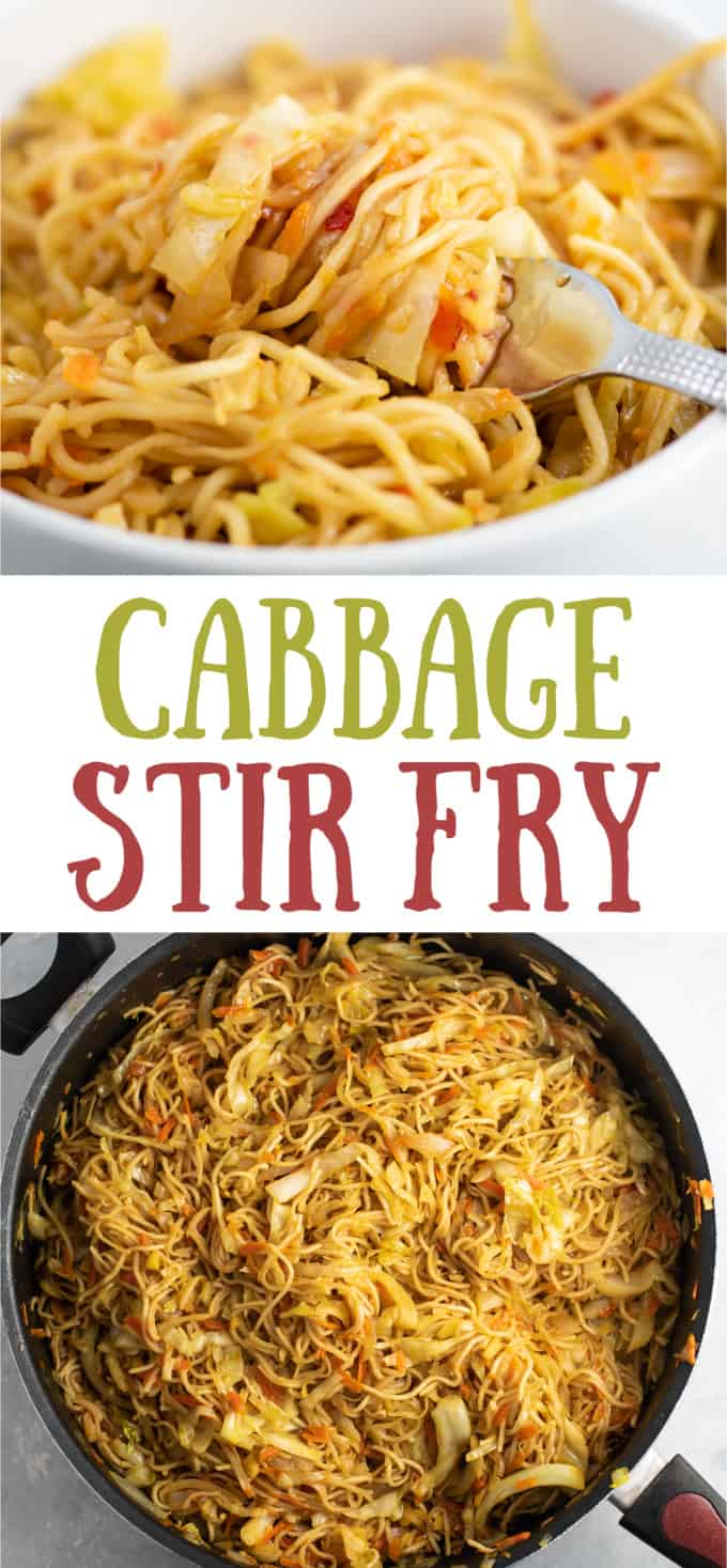 cabbage carrot onion stir fry with ramen noodles