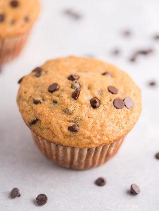 single greek yogurt chocolate chip muffin
