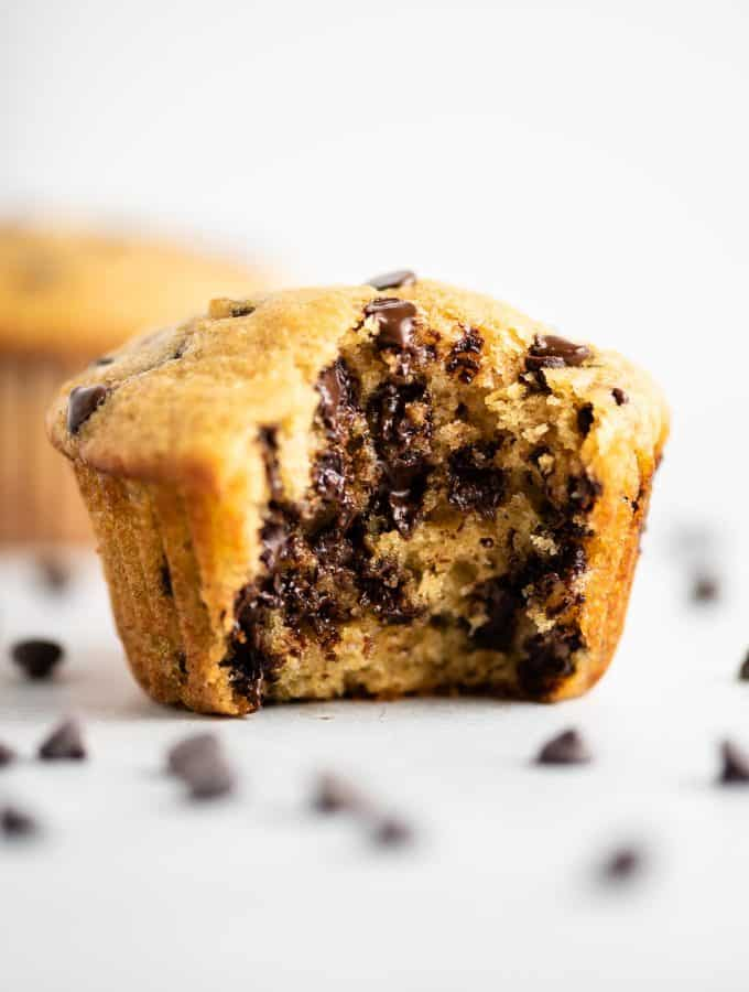 chocolate chip greek yogurt muffins