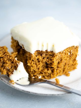 pumpkin cake recipe with cream cheese frosting