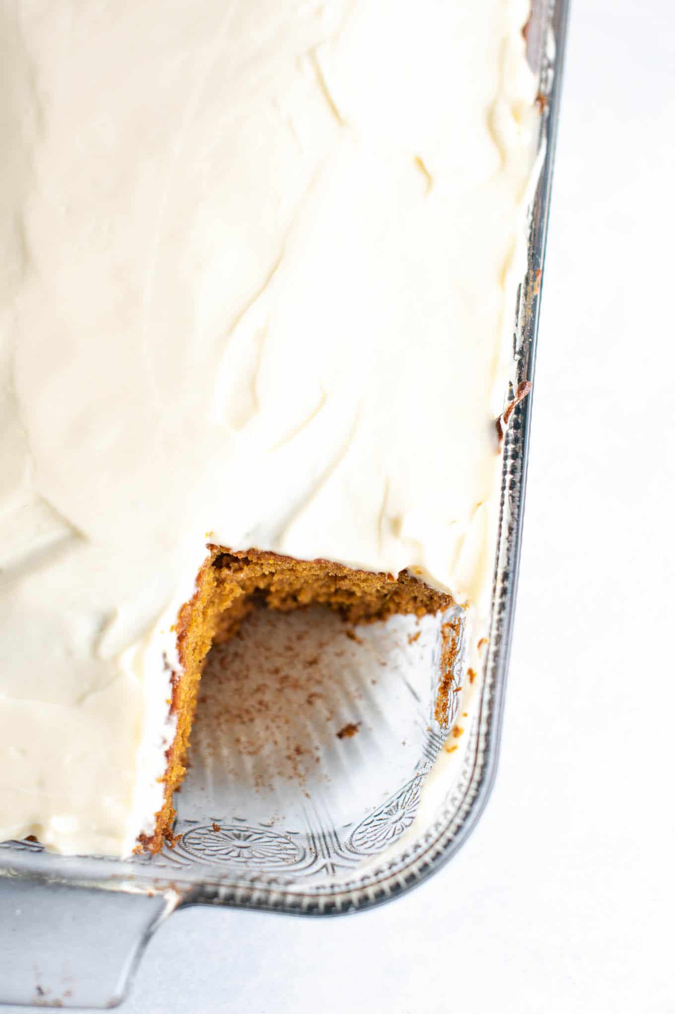 9 X 13 pumpkin cake