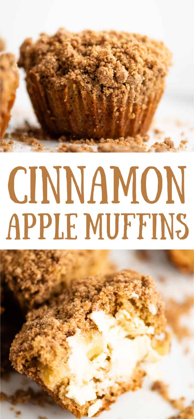 """image with text """"cinnamon apple muffins"""""""
