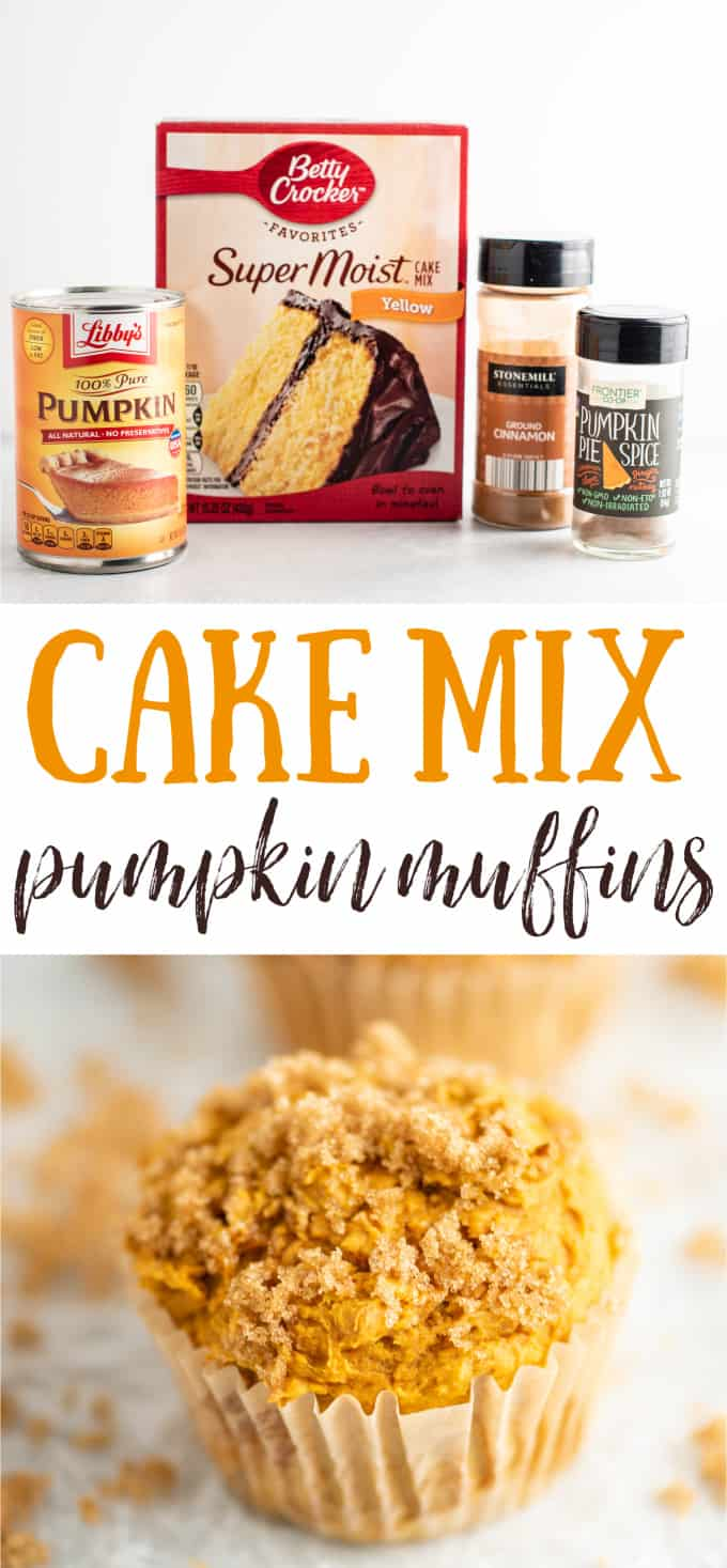 """image with text """"cake mix pumpkin muffins"""""""