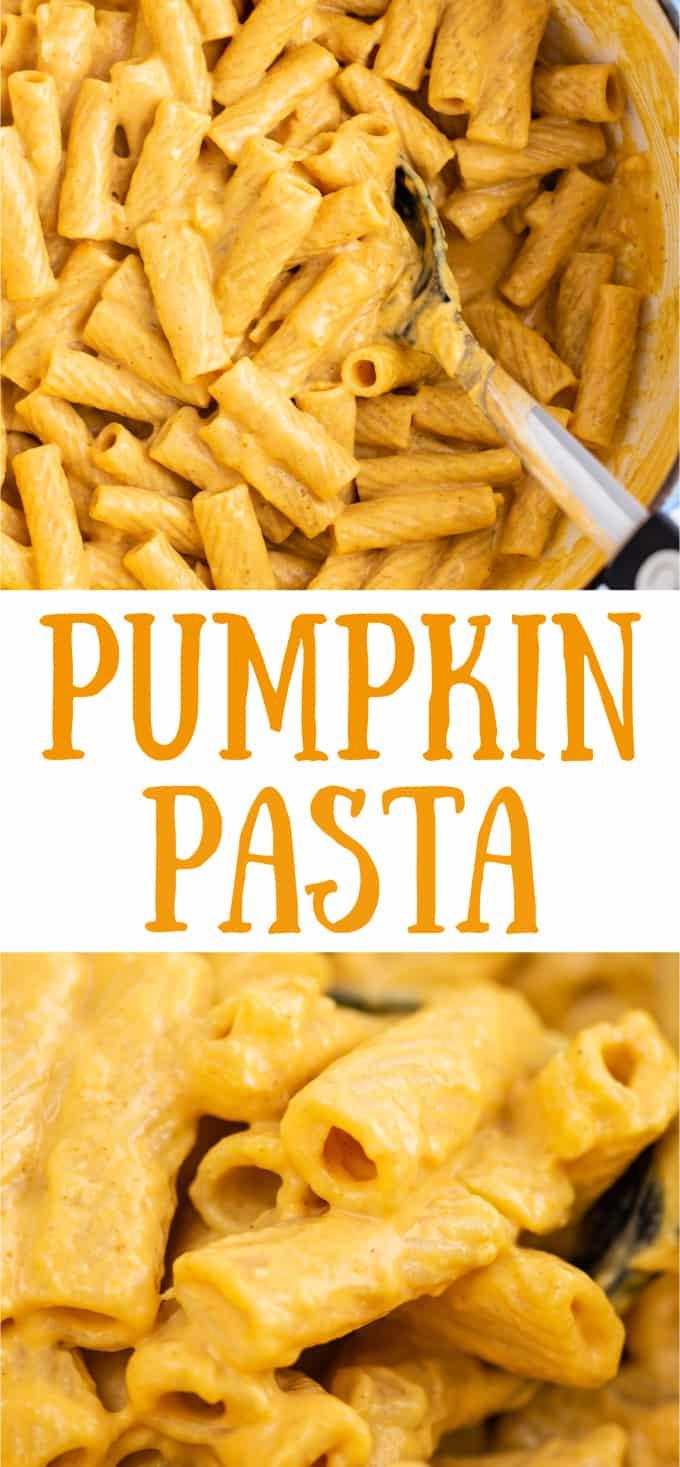"image with text ""pumpkin pasta"""
