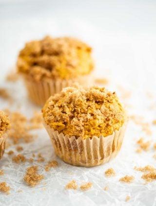 pumpkin cake mix muffins