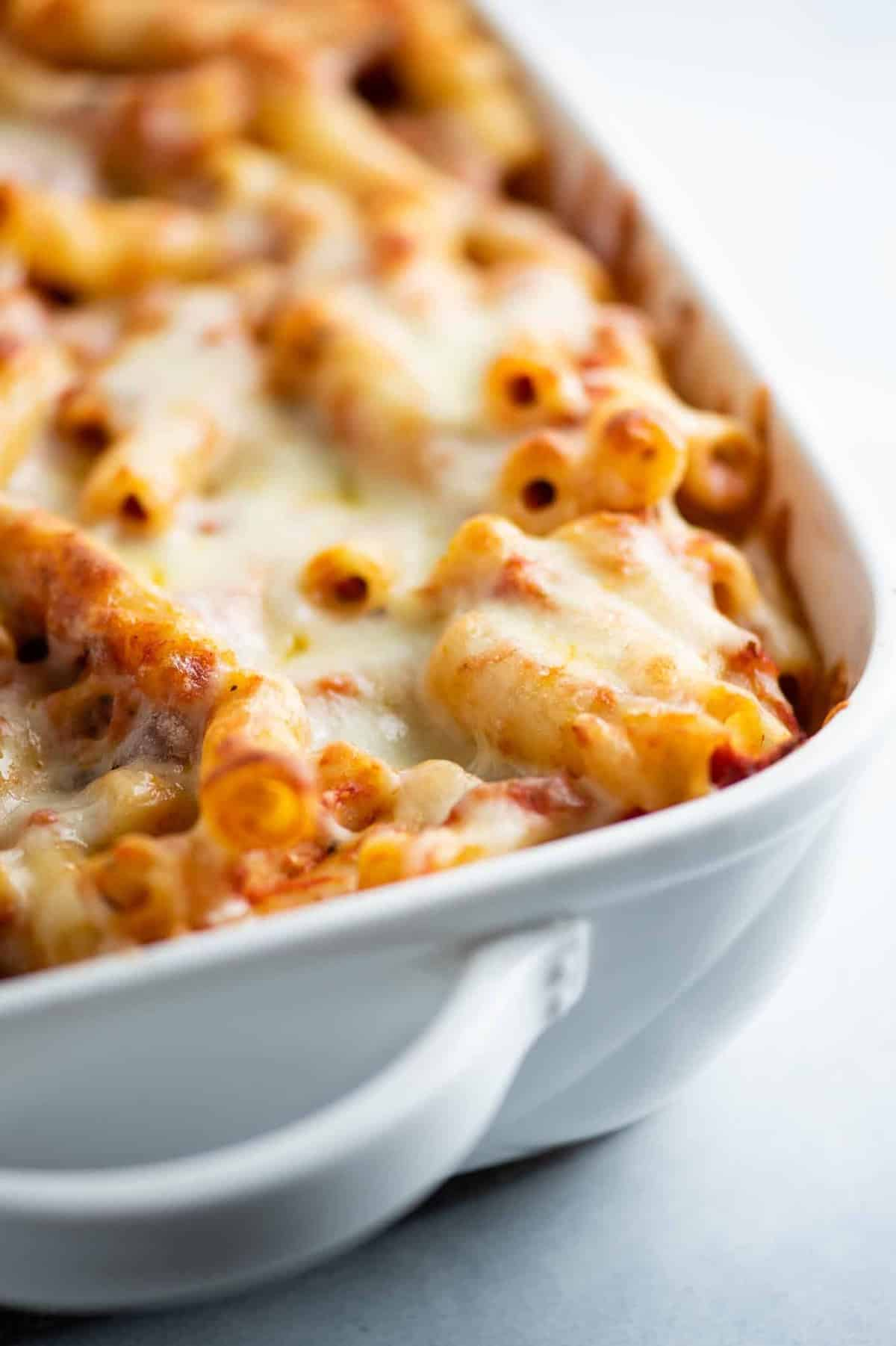 baked ziti with 3 kinds of cheese