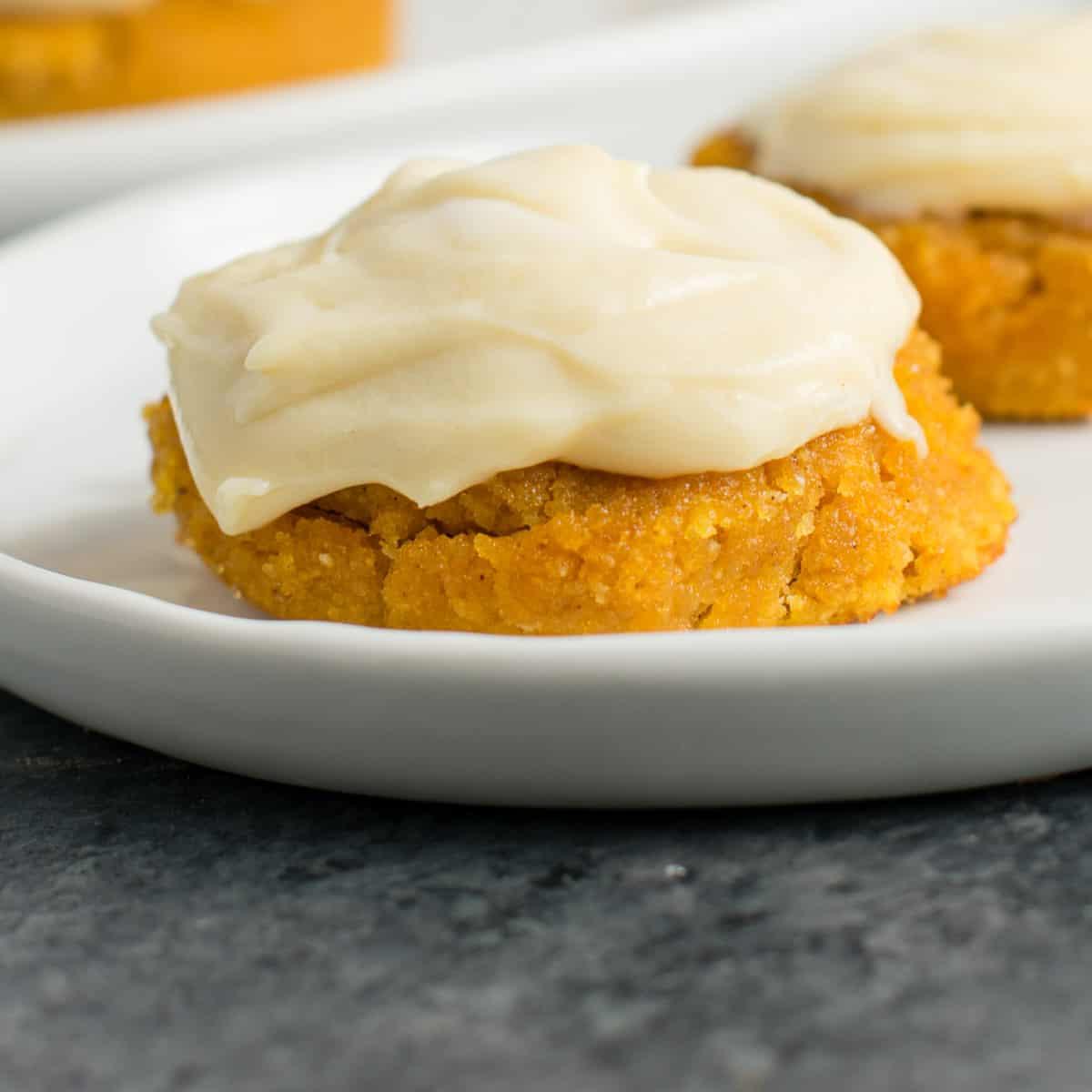 pumpkin pie cookie on a plate