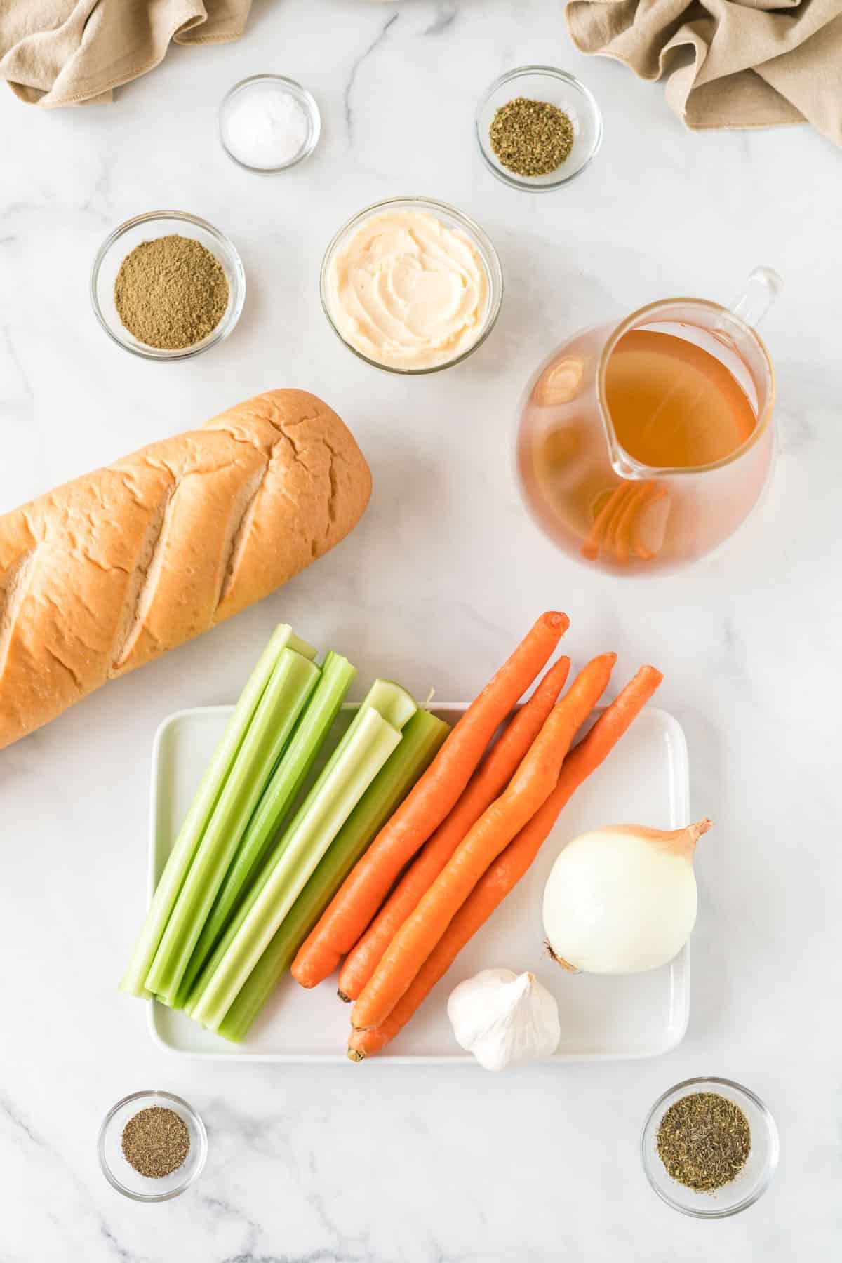 ingredients to make vegan stuffing