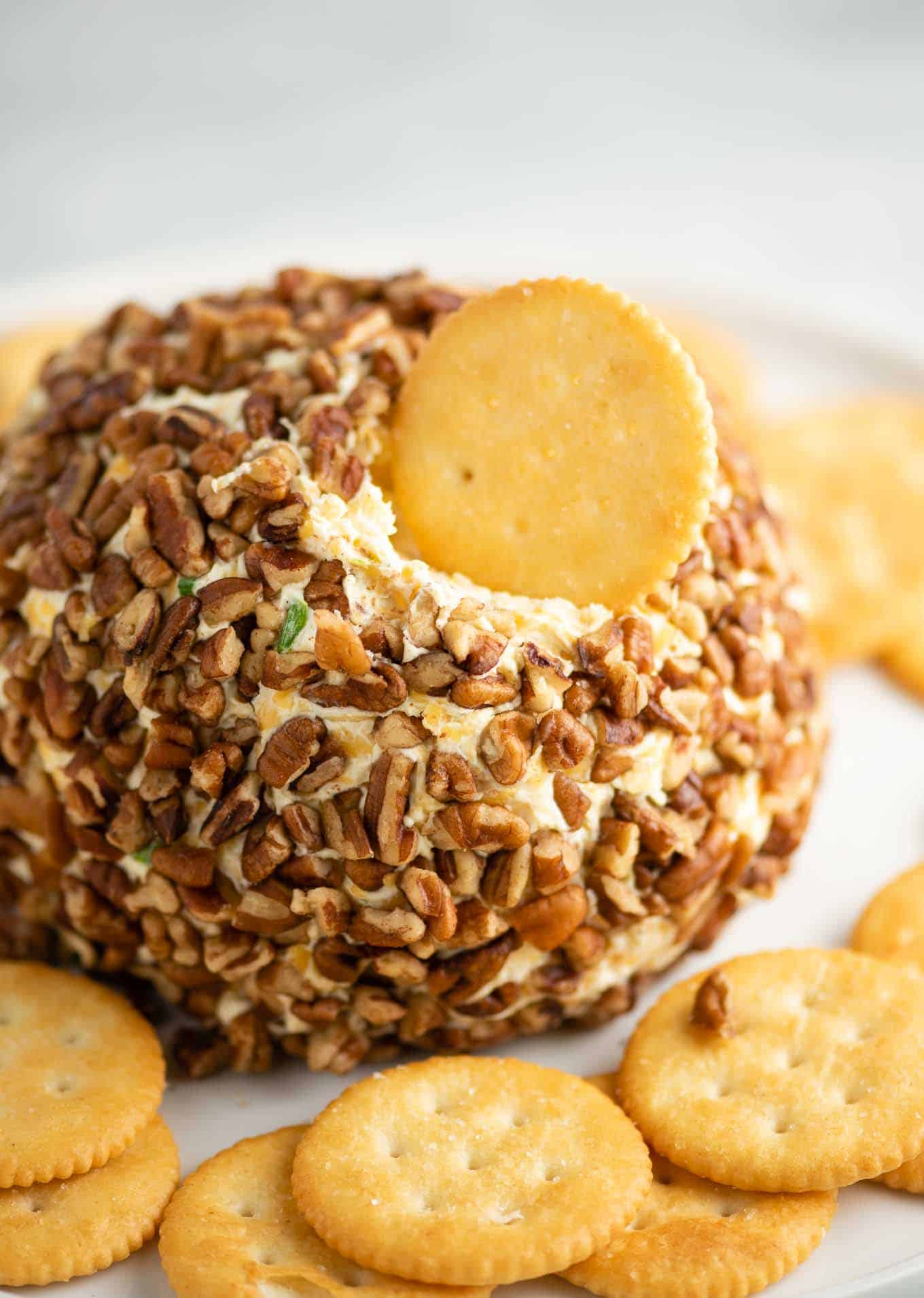 easy holiday cheese ball with pecans