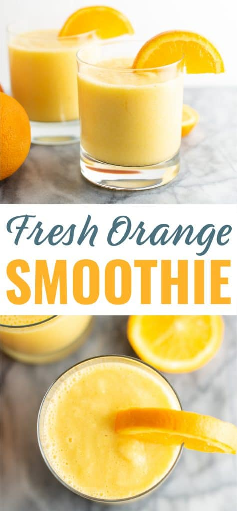 how to make a smoothie with fresh oranges