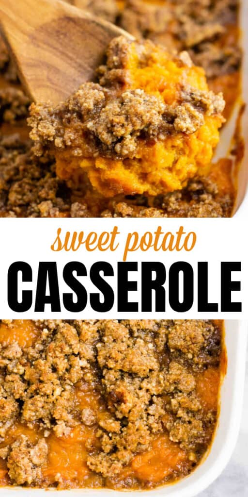 """image with text """"sweet potato casserole"""""""