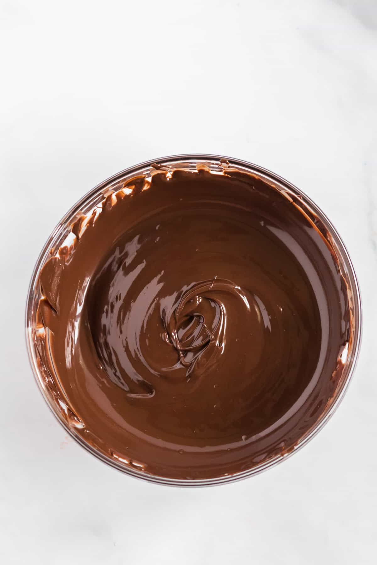 melted chocolate in a bowl