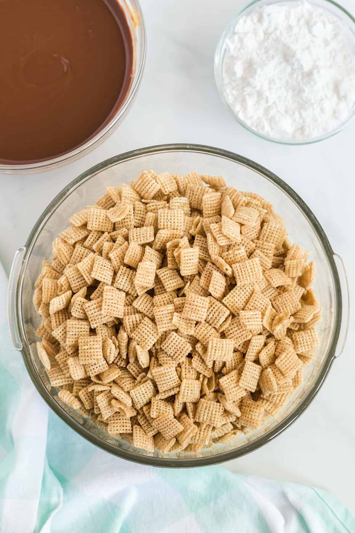bowl of rice chex