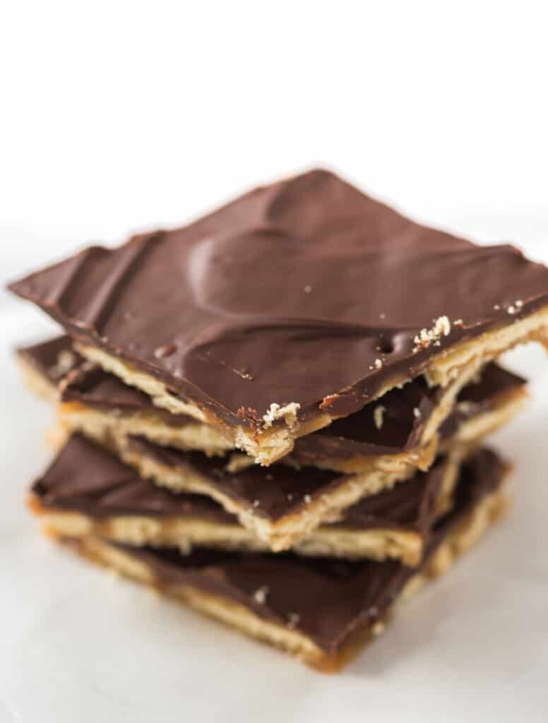 stacked saltine candy without toppings