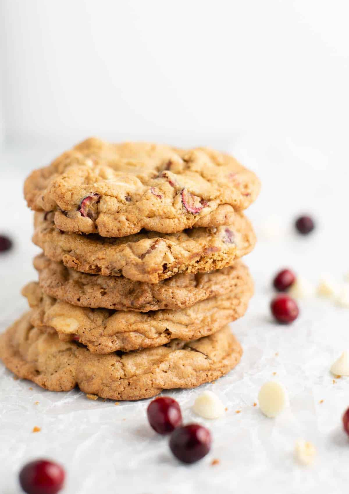 white chocolate cranberry pecan cookies