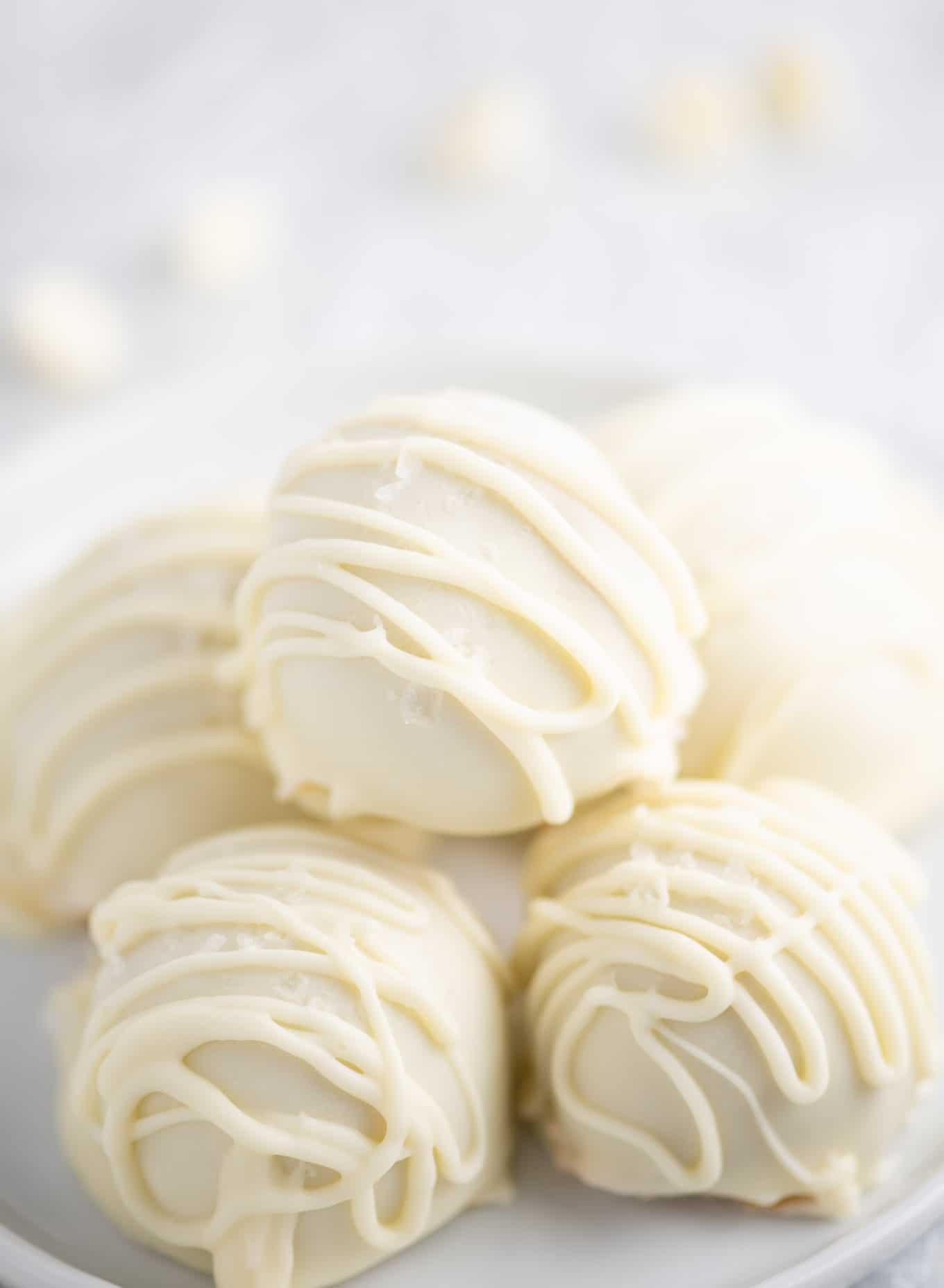 white chocolate peanut butter balls