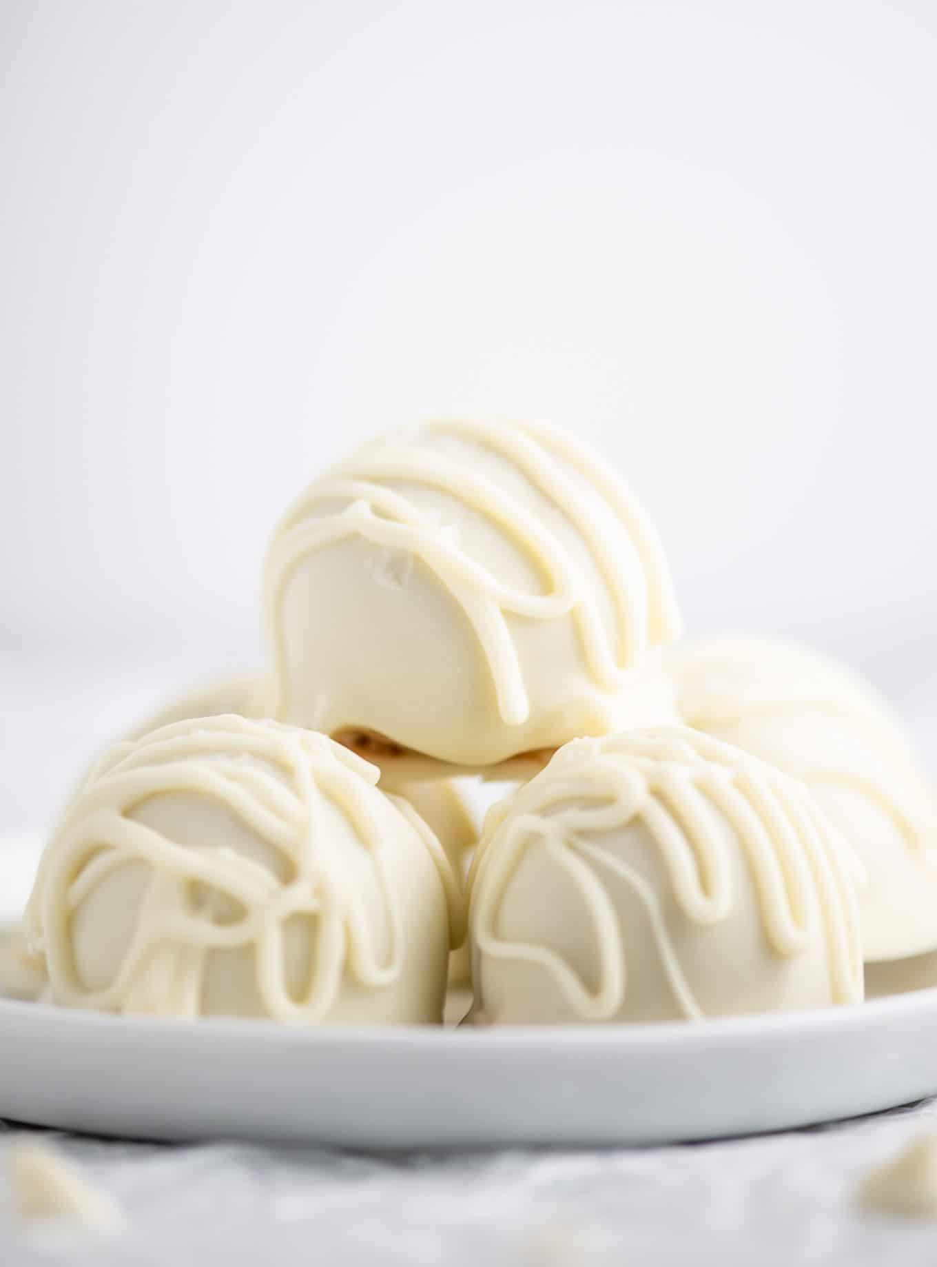 peanut butter truffles with white chocolate