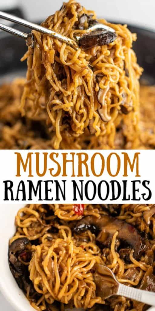 "image with text ""Mushroom Ramen Noodles"""