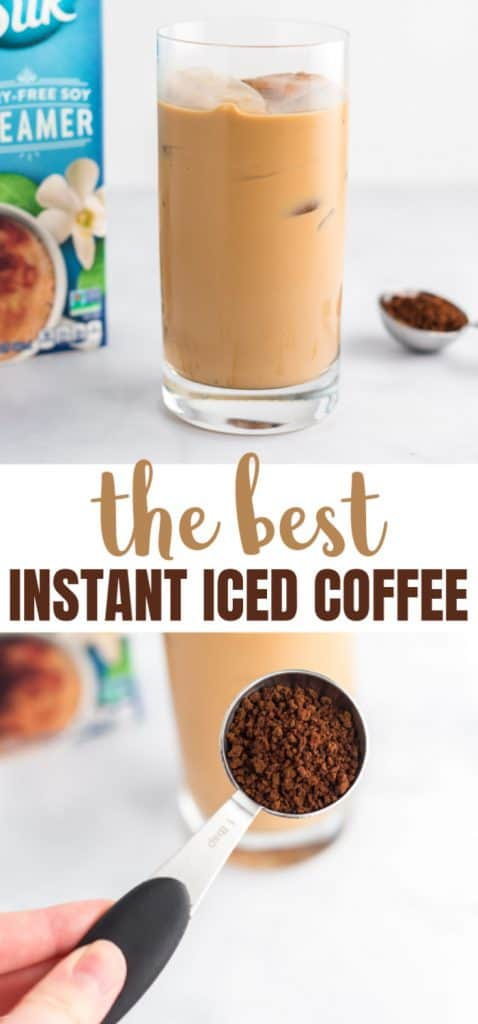 "image with text ""the best instant iced coffee"""