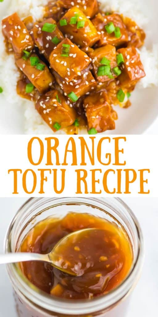 "image with text ""orange tofu recipe"""