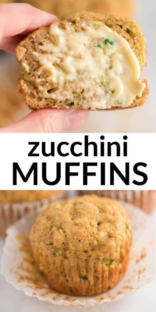 """image with text """"zucchini muffins"""""""