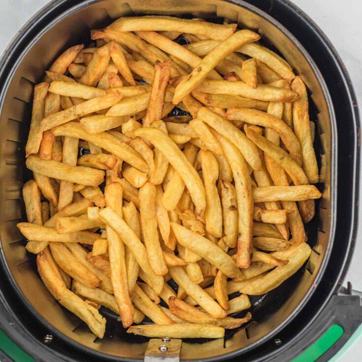 fries inside of an air fryer basket