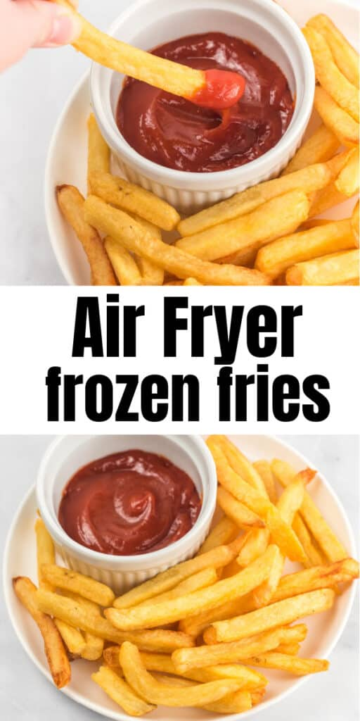 "image with text ""air fryer frozen fries"""
