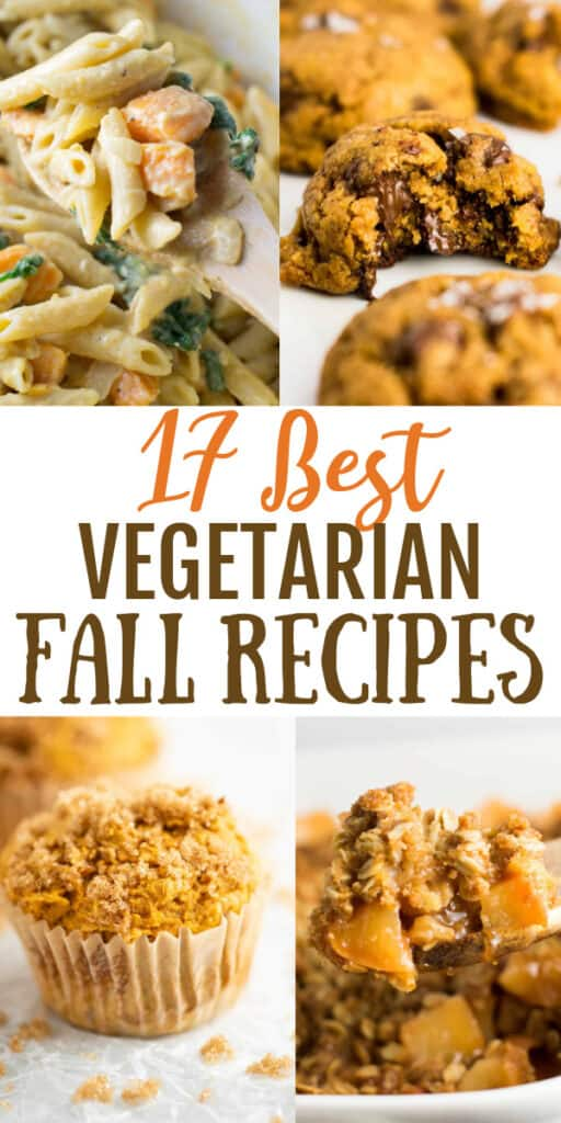 """image with text """"17 best vegetarian fall recipes"""""""