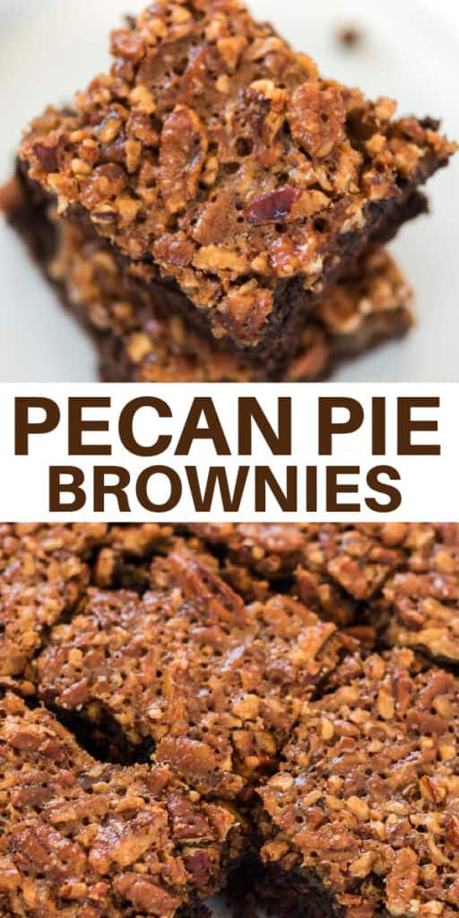 "image with text ""pecan pie brownies"""