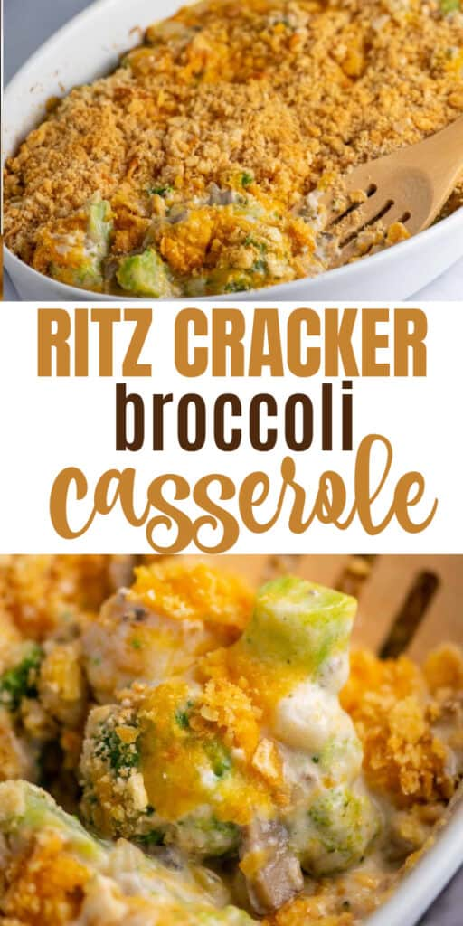 "image with text ""ritz cracker broccoli casserole"""