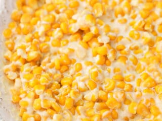 creamed corn in a bowl