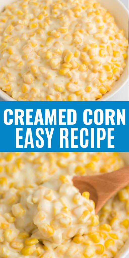 "image with text ""creamed corn easy recipe"""