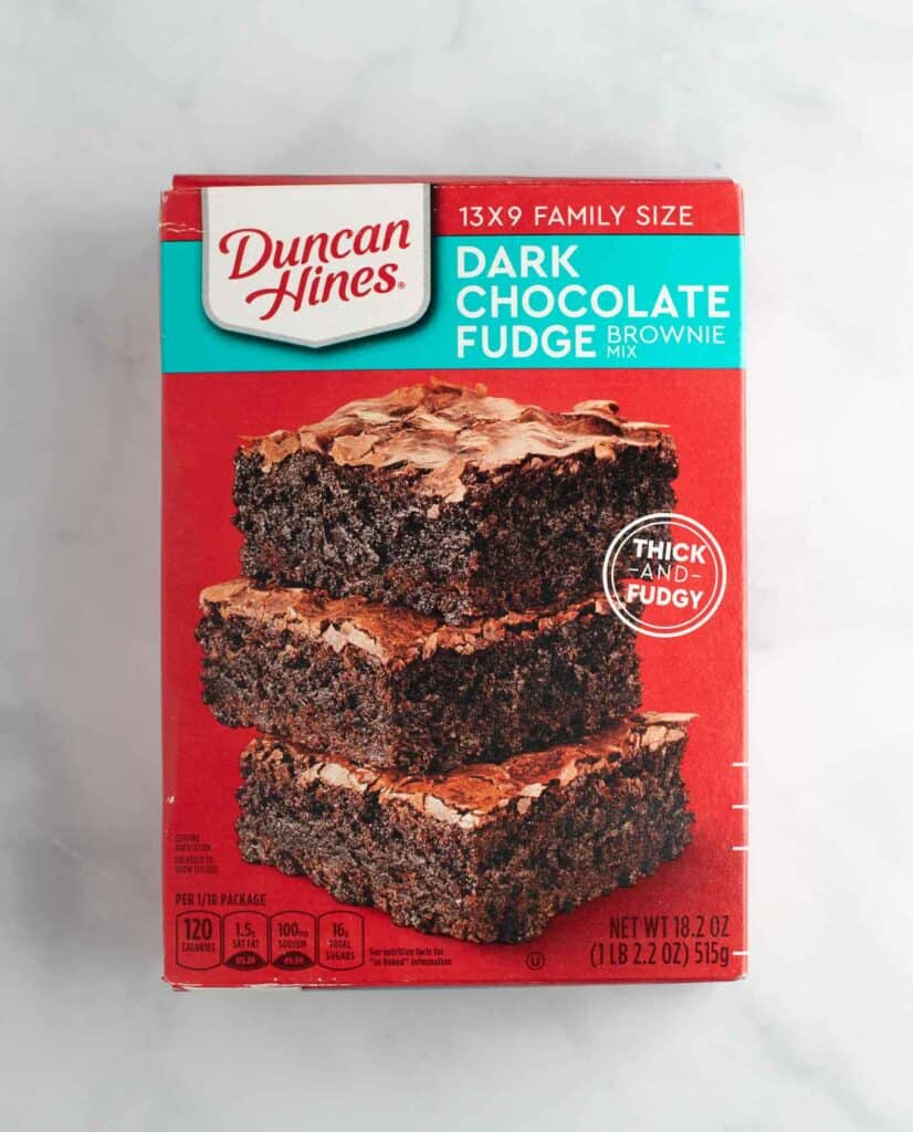 box mix of dark chocolate fudge duncan hines brownie mix