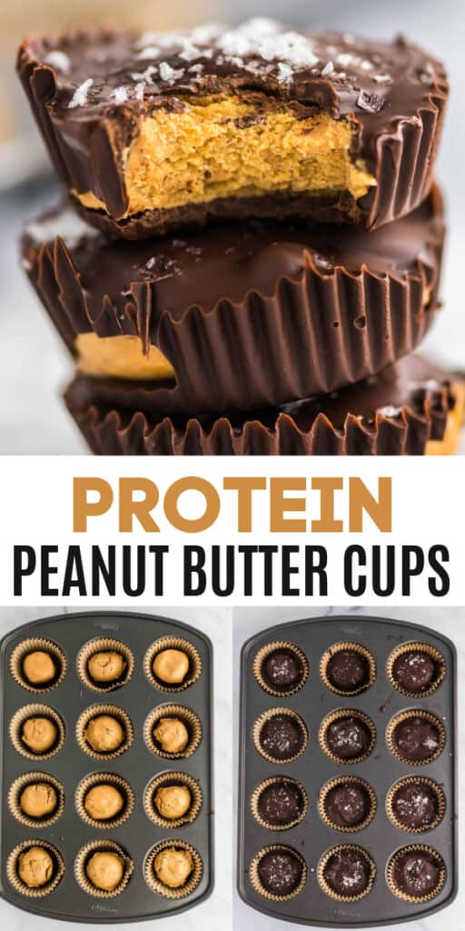 """image with text """"protein peanut butter cups"""""""