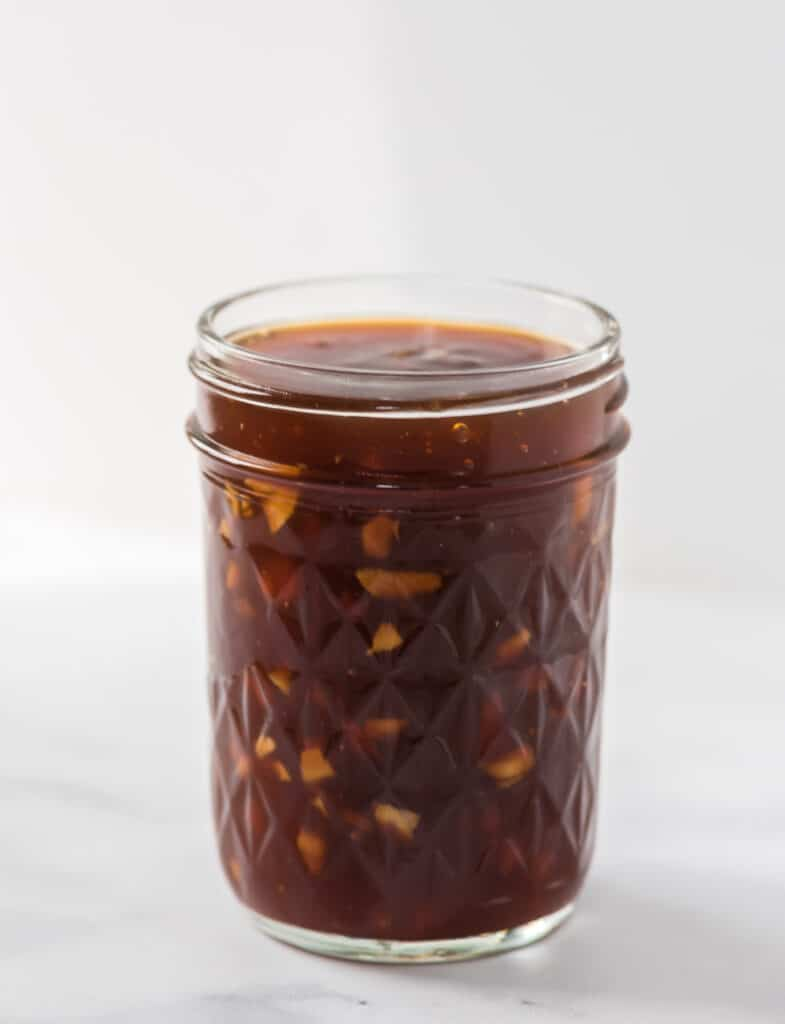 teriyaki sauce in a mason jar
