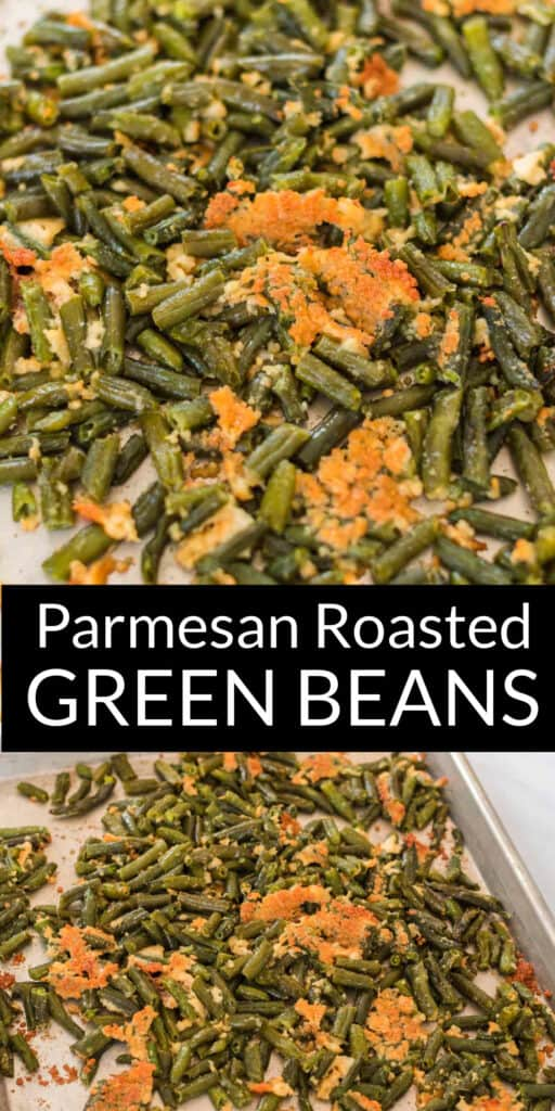 "image with text ""parmesan roasted green beans"""