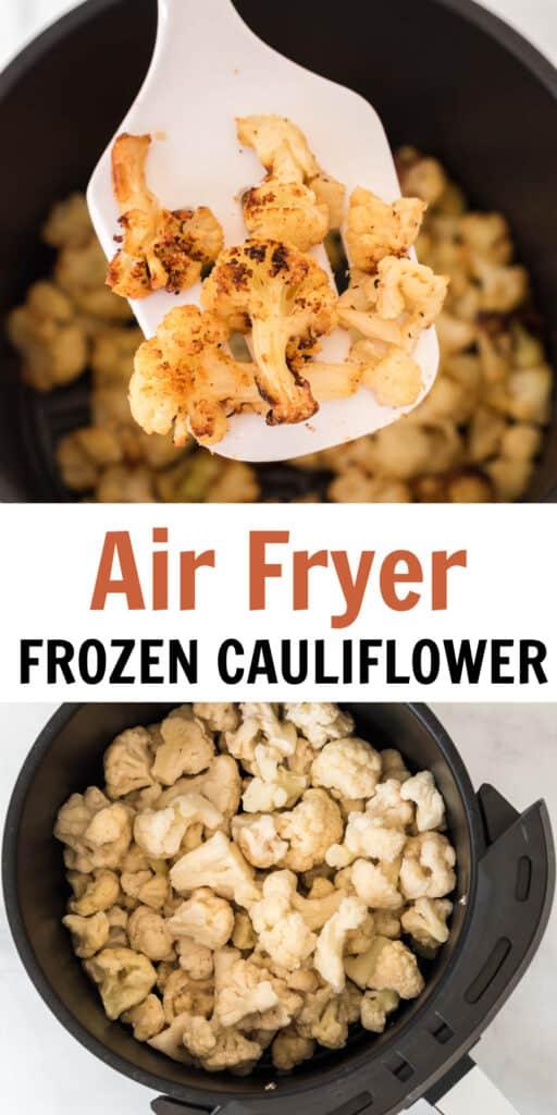 """image with text """"air fryer frozen cauliflower"""""""