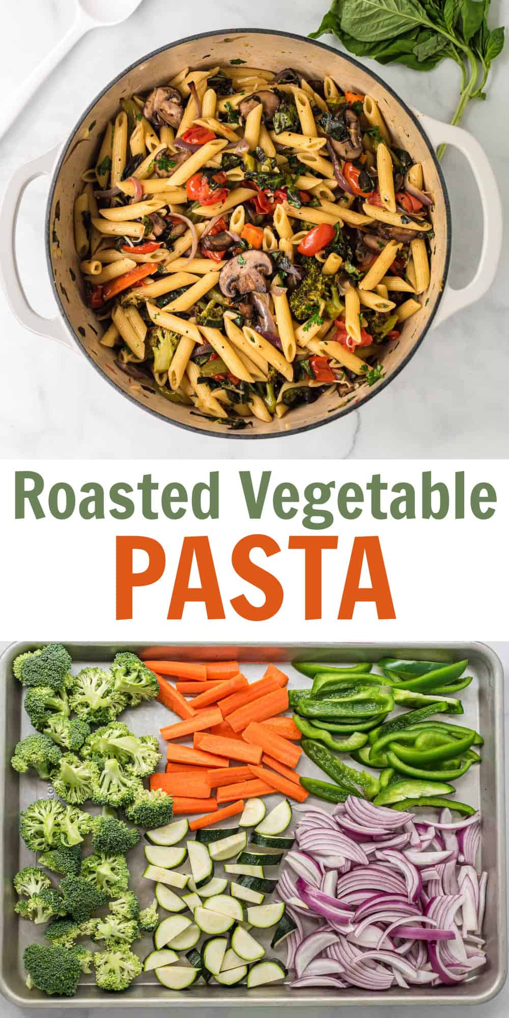 """image with text """"roasted vegetable pasta"""""""