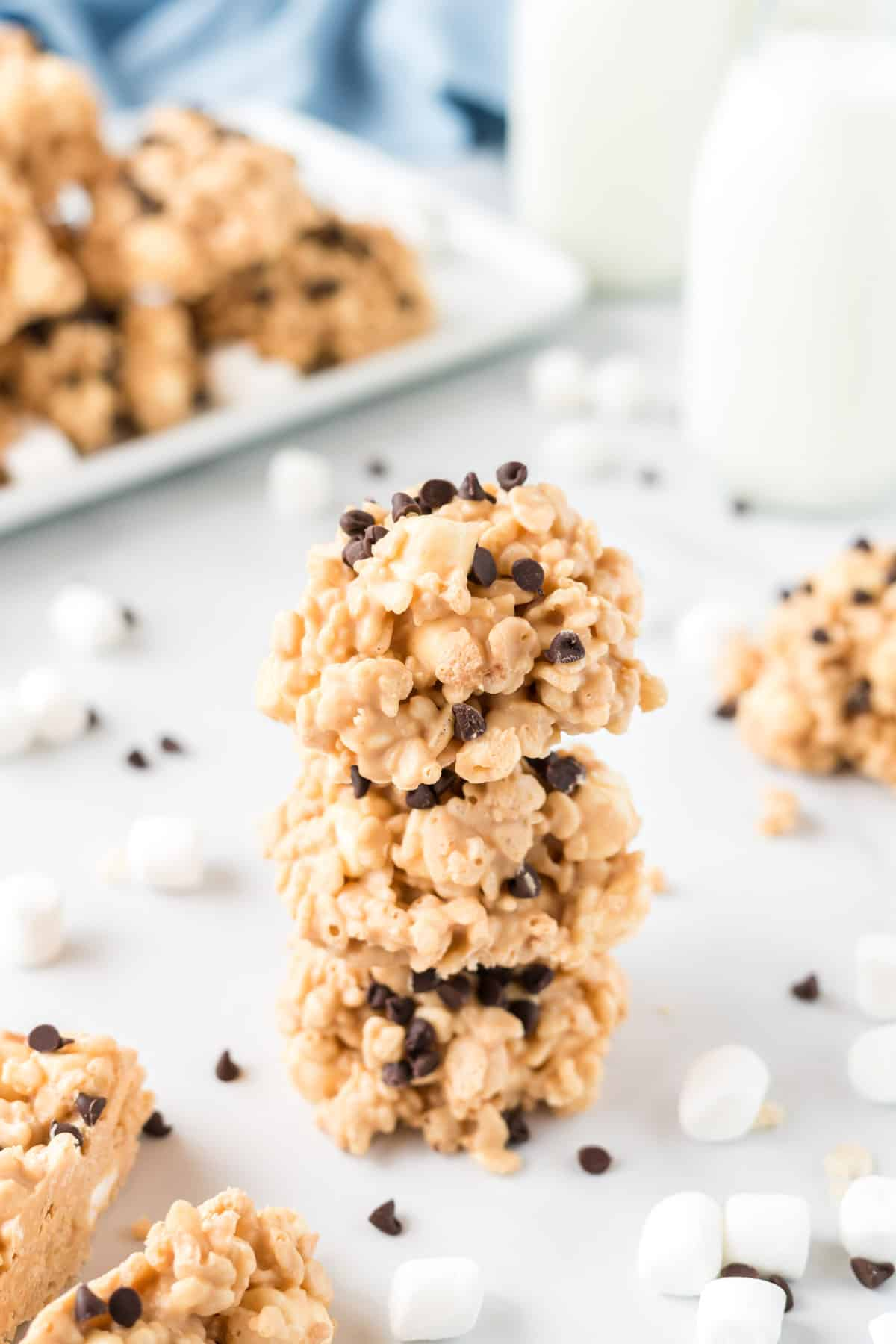 stacked no bake avalanche cookies
