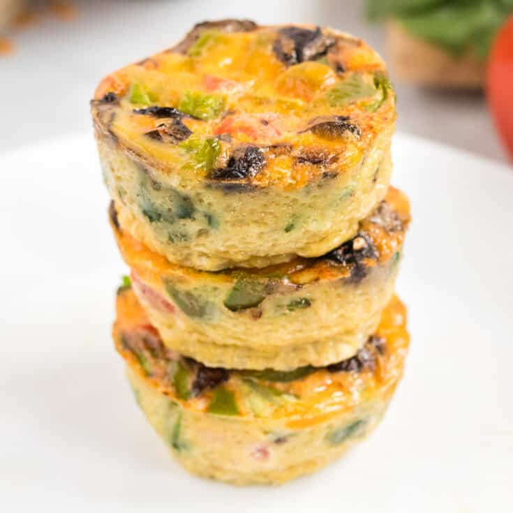 stacked egg muffin cups