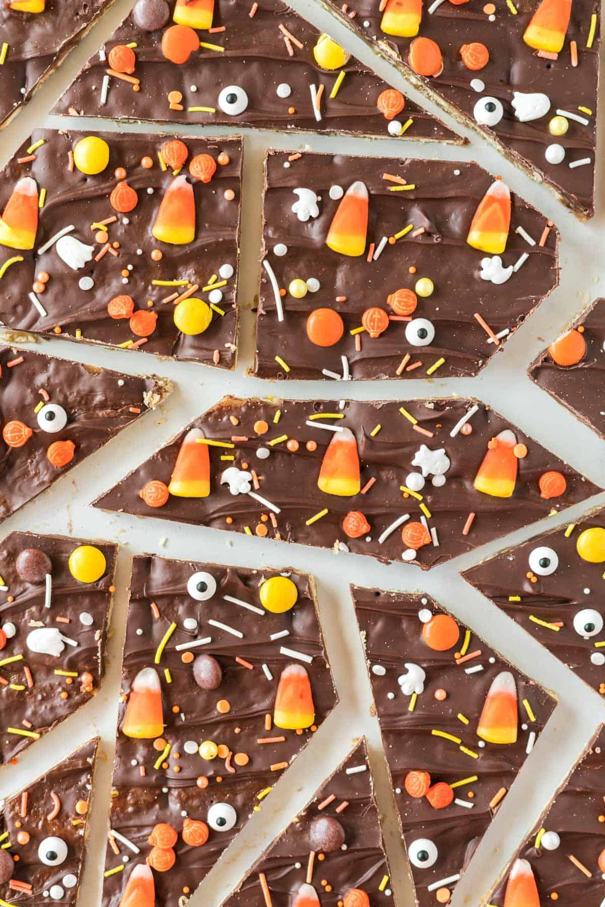 halloween crack candy broken into pieces