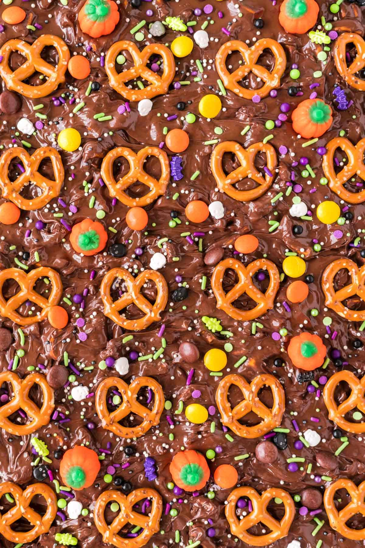 candy pumpkins, sprinkles, and reese's pieces added for decoration