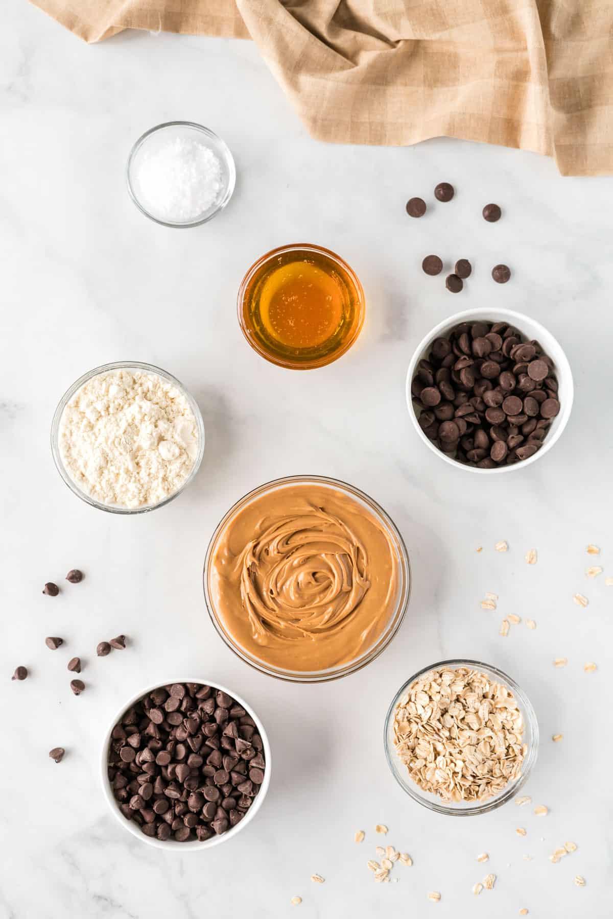 ingredients to make no bake protein bars