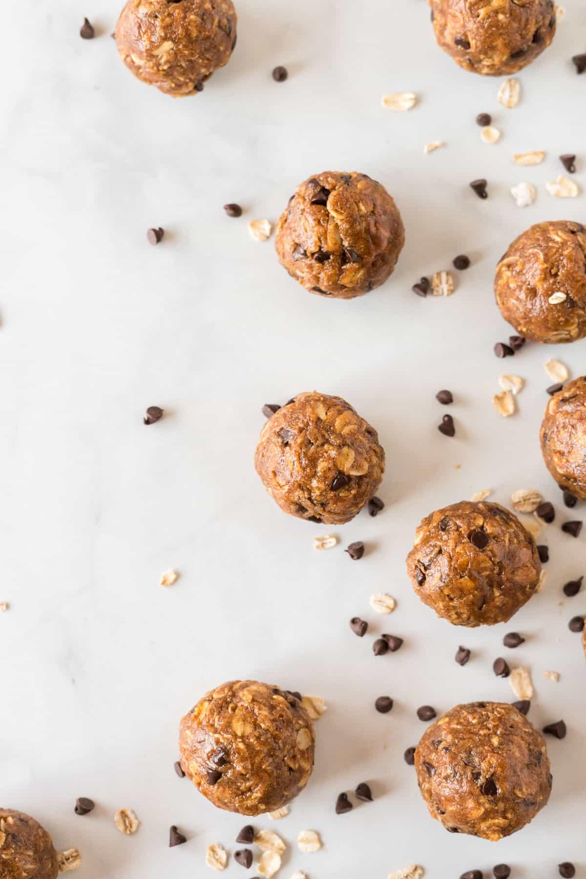 pumpkin chocolate chip protein balls